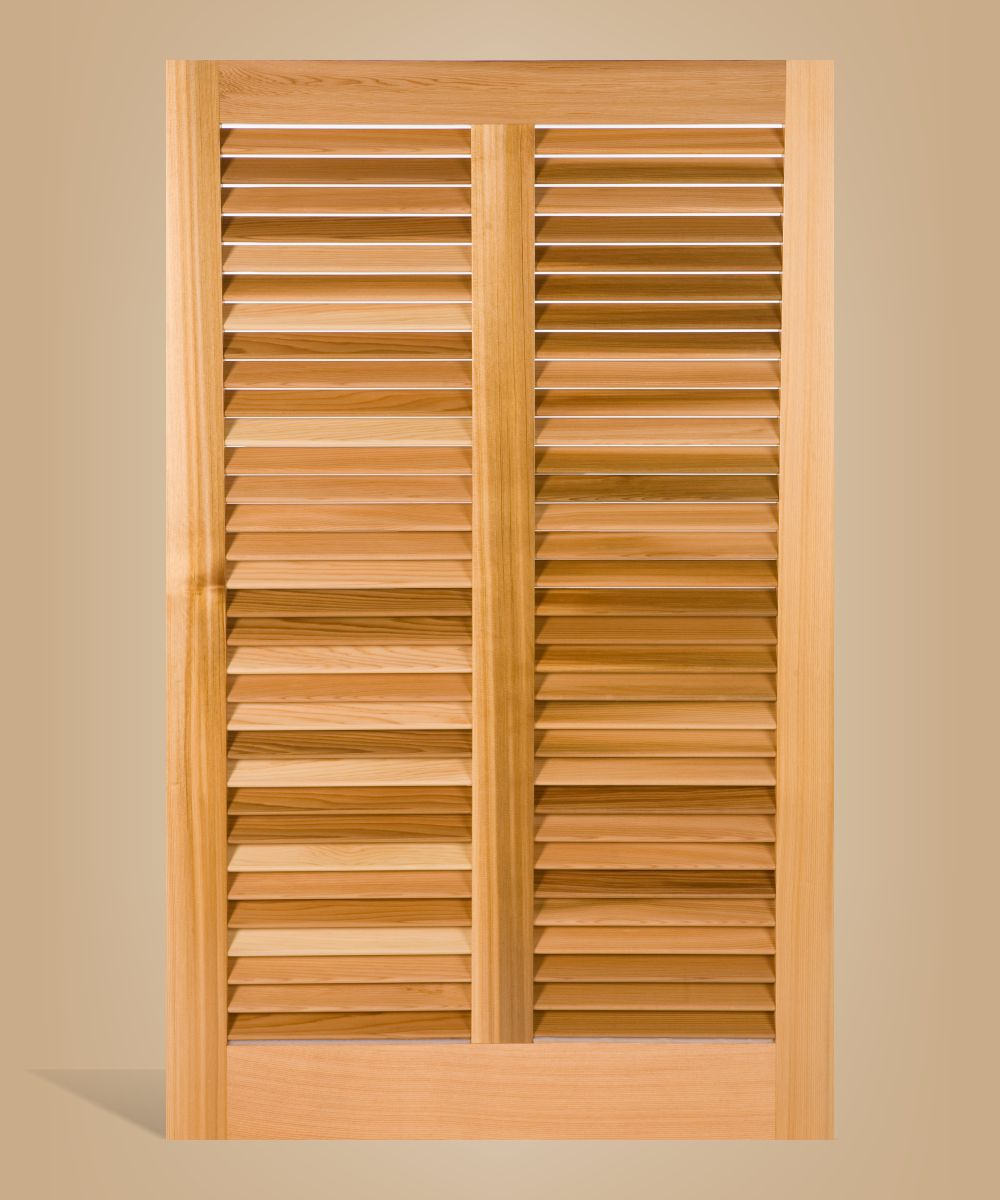 Bermuda or Bahama style shutter of real cedar.