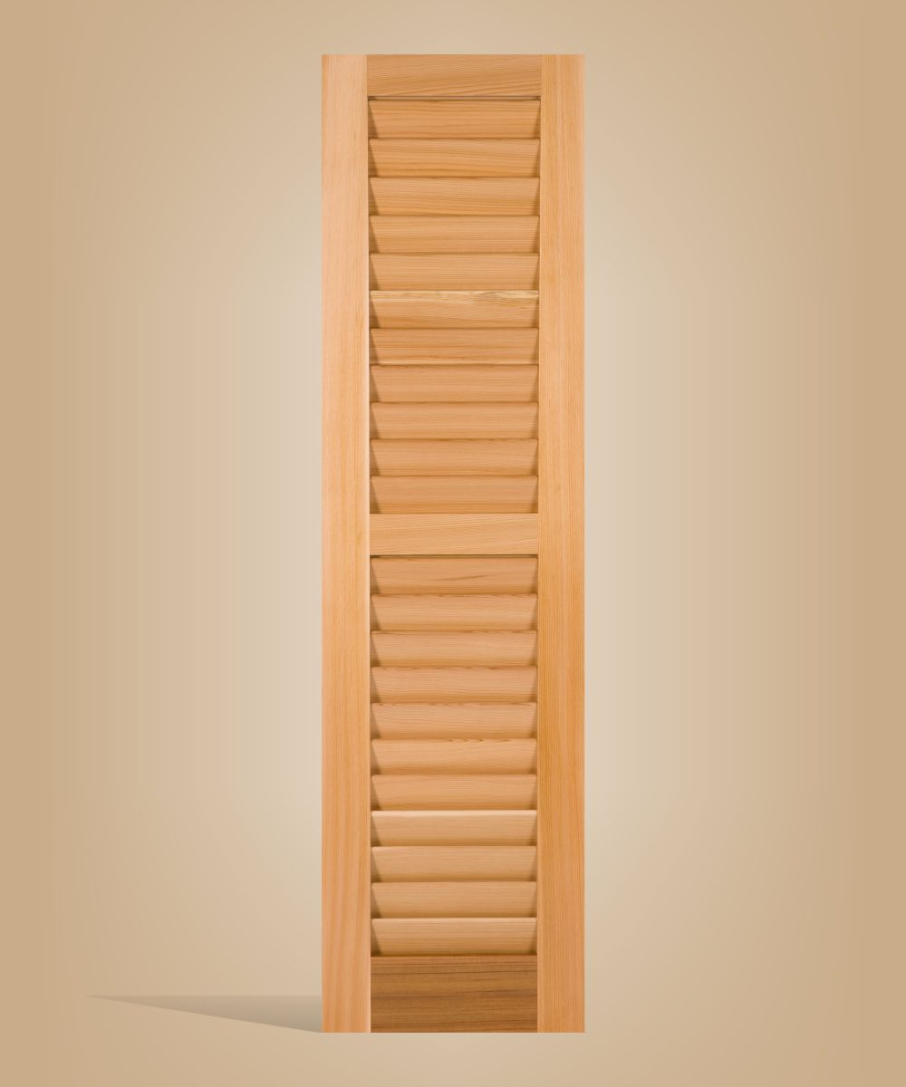 Louvered shutter for home, house, business or any building exterior.