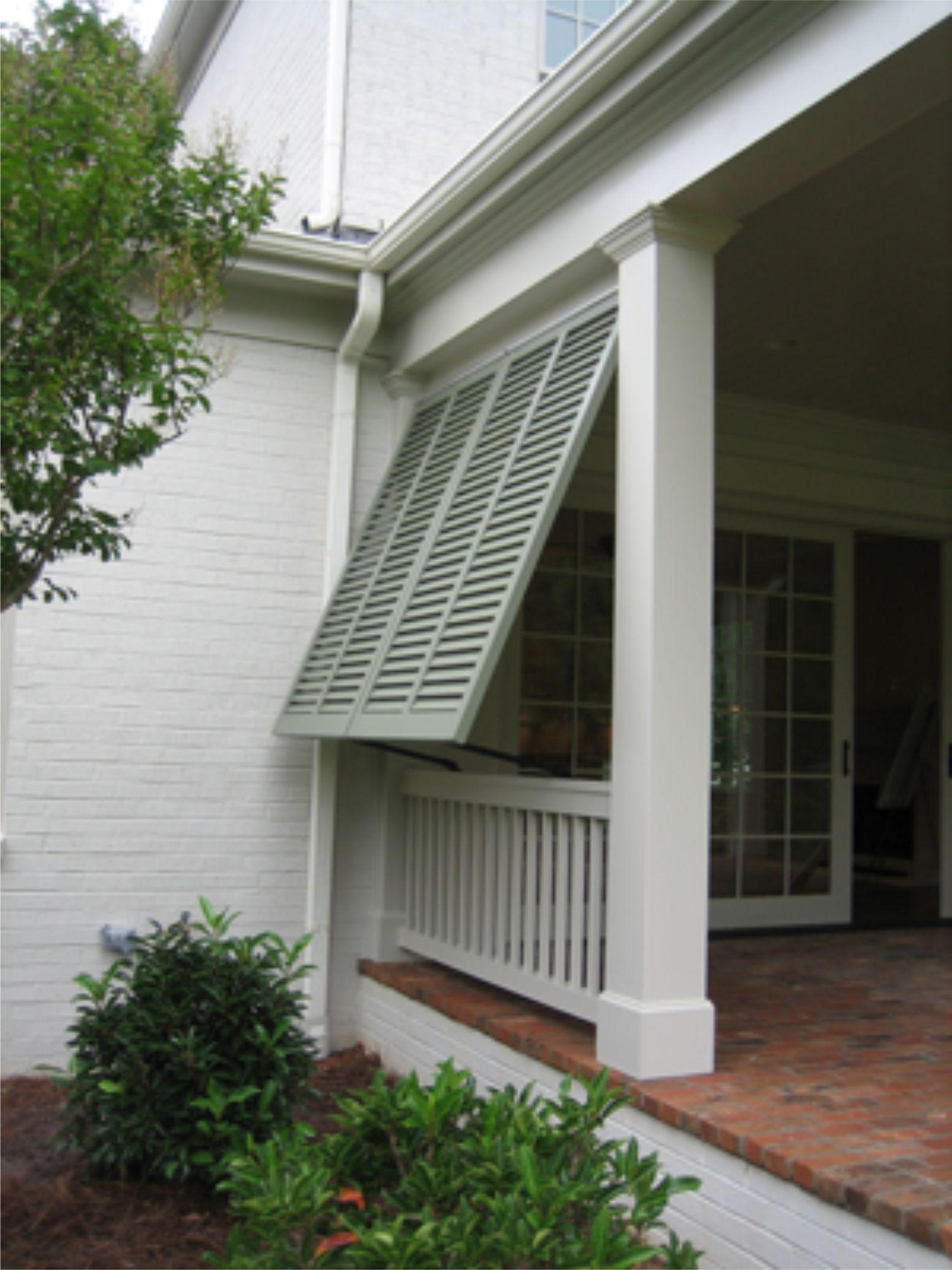 Bermuda style window shutters.