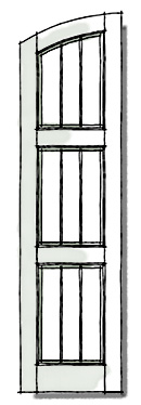 Frame and Plank Window Shutters Exterior configuration of SEG top three panel.