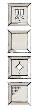 Decorative shutters sample cutout options.