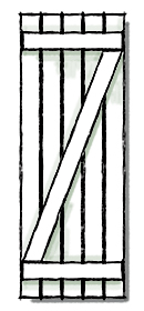 Board and batten shutters z batten configuration.