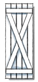 Board and batten shutters x batten configuration.