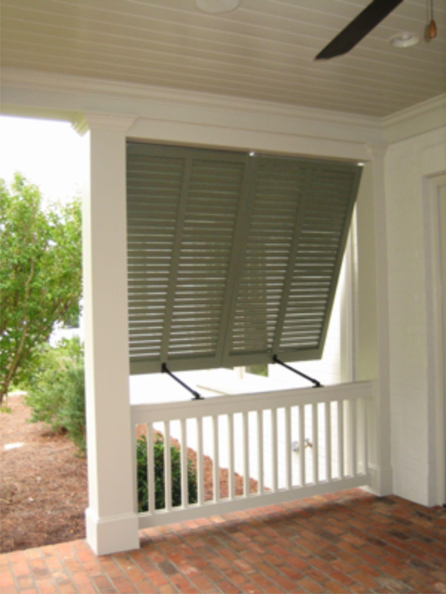 Bahama style window shutters.