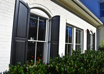 Outdoor shutters of Harmony Raised Panel ShuttersOutdoor shutters of Harmony Raised Panel Shutters in SEG configuration.