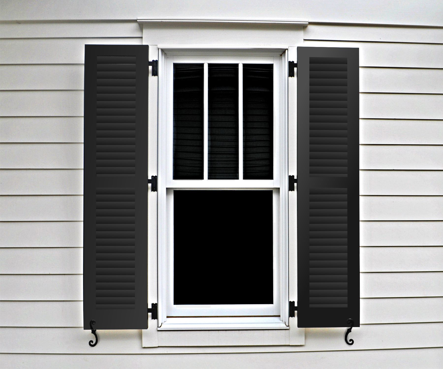 Weather Bull Shutters are affordable shutters made of metal.