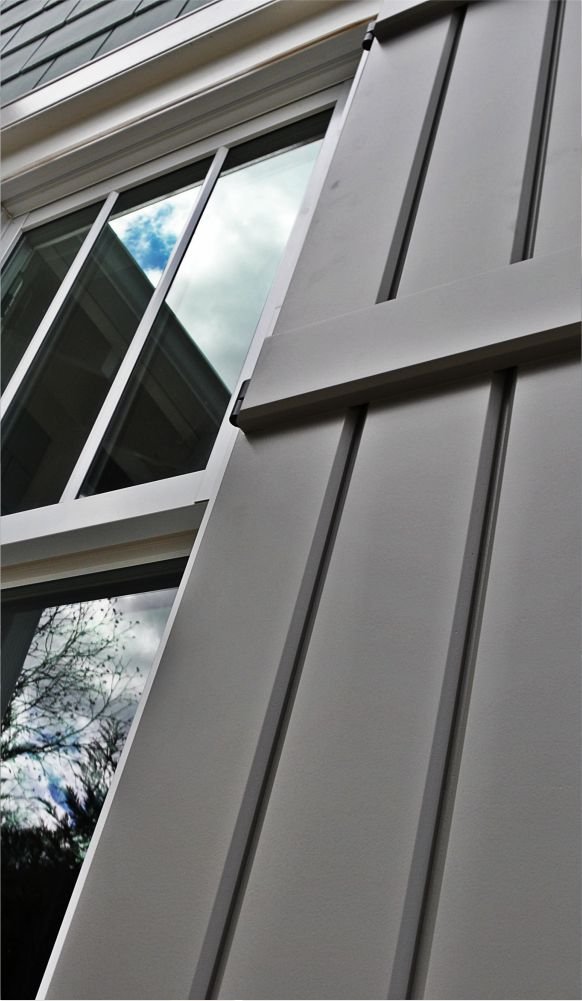 Custom shutters for your business's exterior.