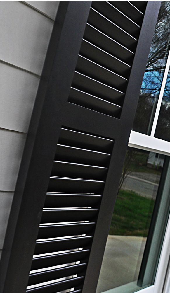Affordable shutters made of aluminum for house or business exterior.