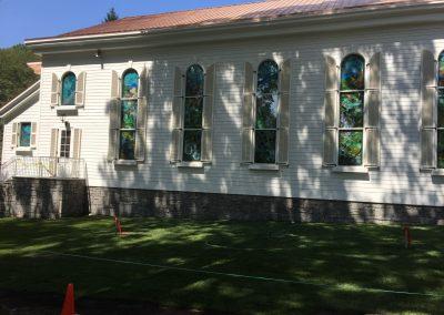 Custom shutters for Greenbrier Chapel.